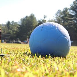 The Grass is Greener by Kylie Kellard - Sports & Fitness Soccer/Association football ( ball, color, sports, team, soccer )