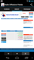 Screenshot of Radio Diffusione Pistoia