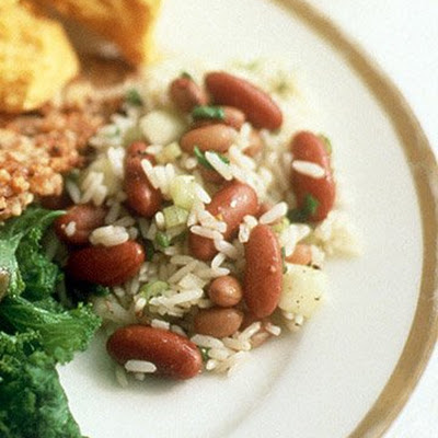 Red Bean and Rice Salad with Spicy Vinaigrette