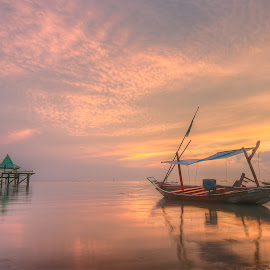 13 by Yossy Ryananta - Landscapes Beaches ( sky, traditional, pink, boat )