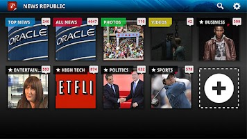Screenshot of News Republic for Google TV