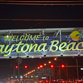 Welcome to Daytona by Bill Telkamp - Novices Only Objects & Still Life ( signs, streetscape, daytona beach )