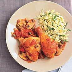 Chicken Cacciatore with Orzo