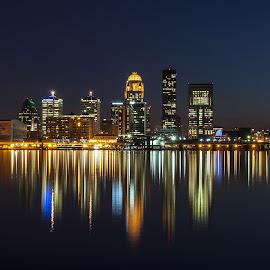 Louisville, Kentucky 2015 by Matt McClintock - City,  Street & Park  Skylines ( #skyline #louisville #kentucky #longexposure #ohioriver #city )
