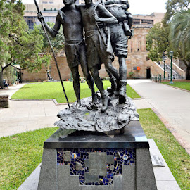Anzac Square Memorial by Phillip Gordon - City,  Street & Park  City Parks ( shrine, memorial, anzac, park, brisbane, remembrance, square, city, path, nature, landscape )