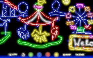 Screenshot of Glow Doodle