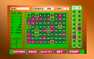 Screenshot of Keno Bingo
