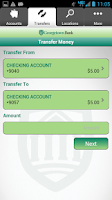 Screenshot of Georgetown Bank Mobile App
