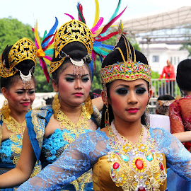 The Dancers by Endah Wirawati - People Musicians & Entertainers ( indonesia, tradition, dancer, culture )