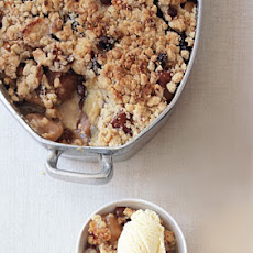 Apple and Quince Crisp with Rum Raisins