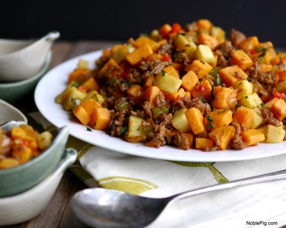 Sausage and Sweet Potato Hash Recipe | Yummly