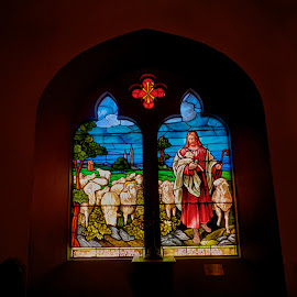 St. Pauls Glass 2 by Alan Roseman - Artistic Objects Glass ( religion, pawtucket, church, rhode island, glass, windows, episcopalian, st.pauls, worship, stained glass )