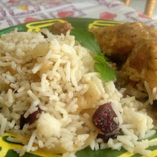Rice With Caramelized Onions and Cranberries