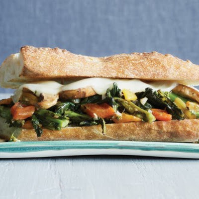 Philly-Style Broccoli Raab, Provolone, and Portobello Sandwiches