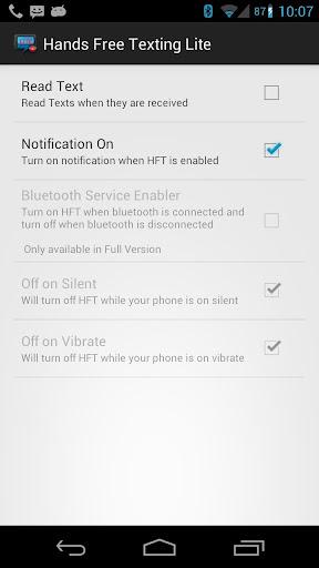 HFT Lite Hands Free Texting
