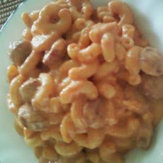 Cheesy Hot Dog Macaroni Feast