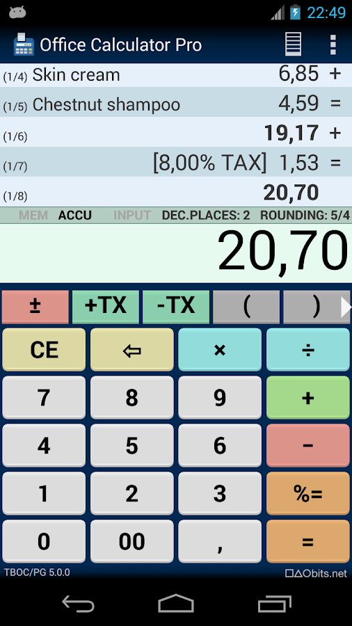 Office Calculator Pro Screenshot 0