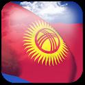 3D Kyrgyzstan Flag