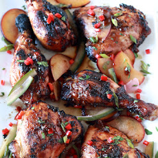 Sriracha Glazed Chicken with Pickled Plum Salad