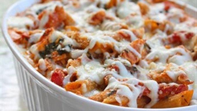 Healthy Three Cheese Chicken Pasta Bake Recipe | Yummly