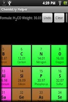 Screenshot of Chemistry Helper