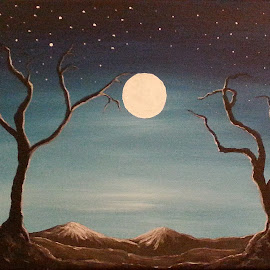 Moonlit by Diane Moretti - Painting All Painting