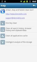 Screenshot of eClean