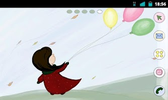 Screenshot of Balloons Theme GO Launcher EX