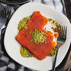 Knafeh (Syrup-soaked Cheese Pastry)