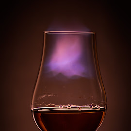 Subtle Burn by Stefan Roberts - Food & Drink Alcohol & Drinks ( bourbon, flames, whiskey, scotch, whisky, fire )