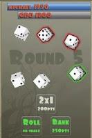 Screenshot of zilch free (dice game)