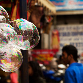 Street in a Bubble by Sharath Pillai - City,  Street & Park  Street Scenes