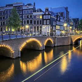 Amsterdam by Darlis Herumurti - City,  Street & Park  Night (  )