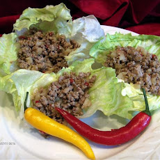 Pork in Lettuce Leaf Cups