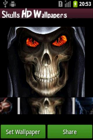 skull-hd-wallpapers for android screenshot