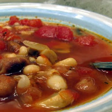 Quick Provencal Mushroom and White Bean Stew