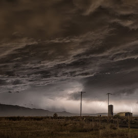 Apocalypse Farm by Brent Clark - Landscapes Weather ( clouds, farn, thunderstorm, weather, storm, landscape )