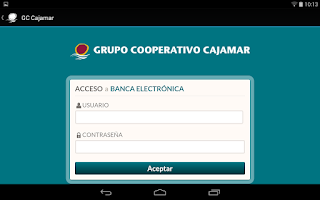 Screenshot of Grupo Coop. Cajamar Tablets