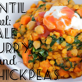 Easy Lentil Bowl with Kale, Curry, and Chickpeas