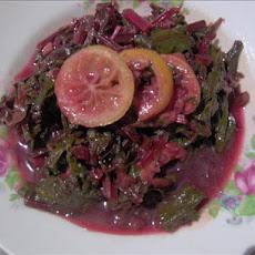 Bitter Lemon, Honey & Sweet Simmered Greens