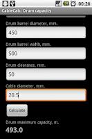 Screenshot of CableCalc