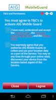 Screenshot of AIG Mobile Guard