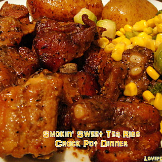 Smokin' Sweet Tea Ribs Crock Pot Dinner