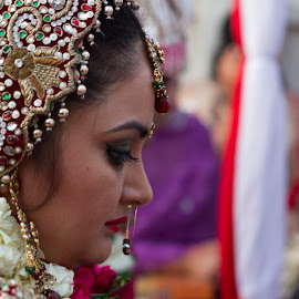 Onto a new life by Rajan Wadhwa - Wedding Bride ( oval_labs, wedding, candid, bride )