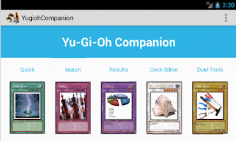 Screenshot of Yugioh Companion