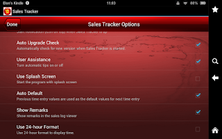 Screenshot of Sales Tracker