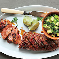 Spanish Pork with Apple-Citrus Salsa