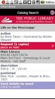 Screenshot of Cincinnati Public Library
