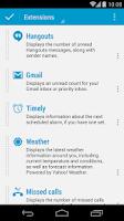 Screenshot of Hangouts DashClock Extension