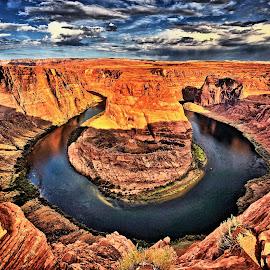 Horseshoe Bend, Page, AZ by David Burks - Landscapes Mountains & Hills ( colorado river, arizona, red rocks, horseshoe bend )